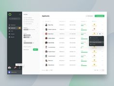 Applicants Page designed by Asish Sunny for Stead. Connect with them on Dribbble; the global community for designers and creative professionals. Web Design Quotes, Web Ui Design, Flat Design, Design Design, Dashboard Ui, Dashboard Design, Interface Design, User Interface, Design Sites