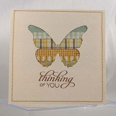 thinking of you card by Melyssa Connolly, Butterfly die from Memory Box  (Another negative space usage.. I'm really liking this idea)
