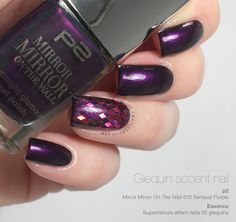 Glequin accent nail manicure with the beautiful p2 Sensual Purple
