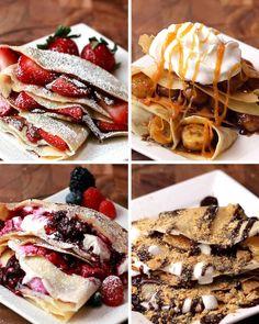 Crepes Four Ways | Buzzfeed Tasty