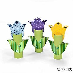 These are sold as a kit to make at Oriental Trading.but I think we could make them for the ball or as a crat for the kids to do Toilet Roll Art, Toilet Paper Roll Crafts, Paper Crafts, Craft Activities, Preschool Crafts, Kids Crafts, Arts And Crafts, Spring Crafts For Kids, Art For Kids