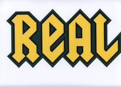 "Real Skateboards 11"" Green/Black/Yellow Logo Sticker"