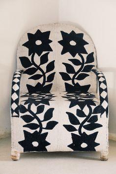 Yoruba beaded chair, Lamu Island-photo Sandy B