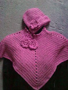 Ravelry: Toddlers Poncho & Hat Set pattern by Emilia Wojciechowska