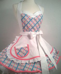 I Luv My Lucy Pin Up Costume Apron by PickedGreen on Etsy, $65.00