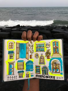 urban sketching, beach doodles, architecture