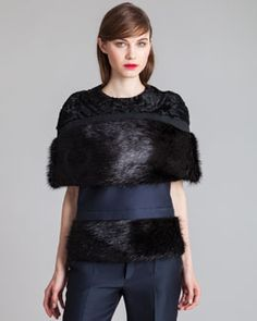 Discover flashy and modern trends for everyday style. Styles P, Marni, Neiman Marcus, Tweed, Cool Style, Fur Coat, Cover Up, Shopping, Black
