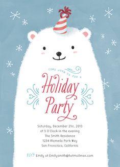 Polar Bear Party by Four Wet Feet Design