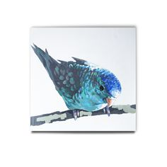 Wall Art, LITTLE BLUEBIRD CANVAS