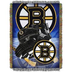 NHL 48 inch x 60 inch Home Ice Advantage Series Tapestry Throw, Bruins, Multicolor