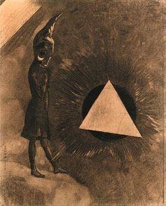 Odilon Redon, Souci d'absolu... Philosophe - Litografia
