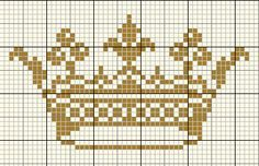 cross stitch crown -