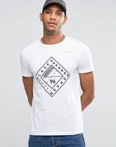ASOS T-Shirt With Text Diamond Print