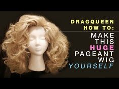 I am SOO trying this!!!  Drag Queen Wig - How to make huge pageant hair out of 6 synthetic pony t...
