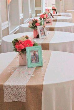 Diy Wedding Ideas 22 Rustic Burlap Wedding Table Runner Ideas You Will Love See more: Burlap Bridal Showers, Bridal Shower Rustic, Wedding Rustic, Wedding Burlap, Simple Bridal Shower, Wedding Showers, Fall Wedding, Wedding Ceremony, Diy Wedding Linens