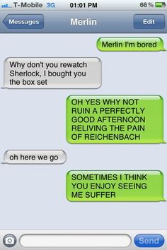 When fandoms collide - Merlin meets Sherlock