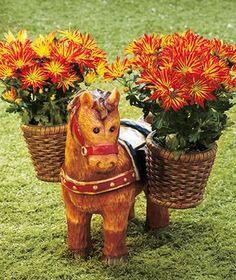 BARNYARD HORSE PLANTER