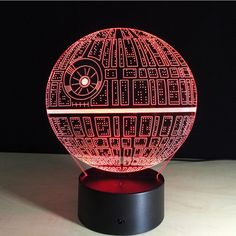 Remote Control Star Wars Death Star Led Night Light 3D Vison Usb Touch Swtich 7 Color Table Lamps Kids Birthday Valentine Gift  #Affiliate