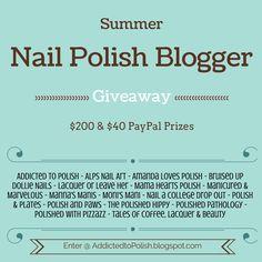 Addicted to Polish: Summer Nail Polish Blogger Giveaway!