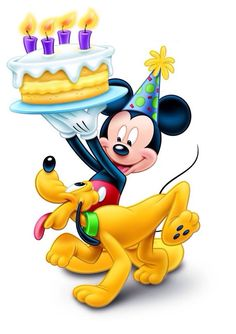 Mickey Mouse and Pluto Birthday Cake