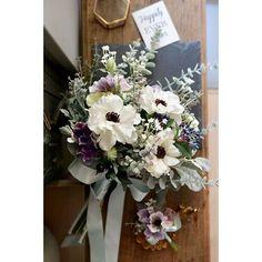 Anemone and sweet pea garden bridal bouquet Winter Wedding Flowers, Flower Bouquet Wedding, Floral Wedding, Bride Bouquets, Bridesmaid Bouquet, Floral Bouquets, Funeral Flower Arrangements, Funeral Flowers, Sky Blue Weddings