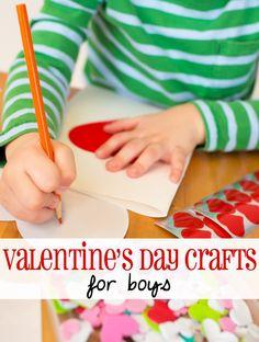 Valentine's Day craft ideas for boys
