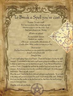To Break a Spell you've cast for homemade Halloween Spell book. Halloween Spell Book, Halloween Spells, Witch Spell Book, Witchcraft Spell Books, Magick Book, Green Witchcraft, Magick Spells, Magic Spell Book, Wiccan Magic