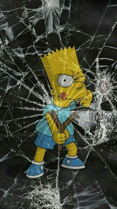BART The Simpsons cracked iPhone Android wallpaper background Cartoon Wallpaper, Simpson Wallpaper Iphone, Tumblr Wallpaper, Screen Wallpaper, Cool Wallpaper, Mobile Wallpaper, Wallpaper Backgrounds, Wallpaper Samsung, Apple Wallpaper