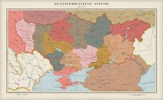 Political map of the Greater Germanic Empire, the Central European part.  After the end of the Second World War, Germany stood as the sole master of the European continent. The former European...