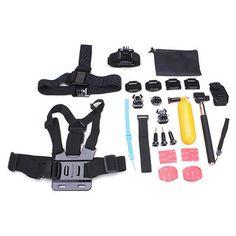 23 In 1 Kit Accessories For Gopro Hero 3 4 3 Plus SJ4000 Sport Camera