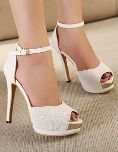 White high heels #shoes