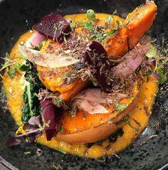 Calabaza asada y especiada con Trufa. #gastronomia