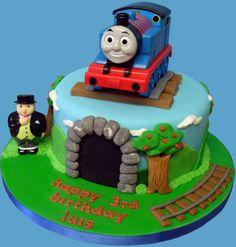 thomas the tank cake 2 Thomas Train Birthday Cake, 2nd Birthday, Birthday Ideas, Thomas The Tank Cake, Thomas And Friends Cake, Susie Cakes, Thomas Cakes, Cakes For Boys, Creative Cakes