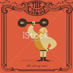 strongman lifting a heavy weight Royalty Free Stock Vector Art Illustration