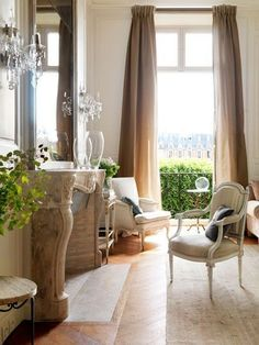 ~ A peek inside a luxurious Parisian apartment in the Place des Vosges, designed by iconic French designer Jacques Grange