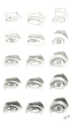 Realistic Drawing Tips Character Design Collection: Eyes AnatomyCharacter Design Collection: Eyes Anatomy Drawing Techniques, Drawing Tips, Drawing Sketches, Pencil Drawings, Art Drawings, Drawing Faces, Drawing Hair, Pencil Art, Drawing Reference