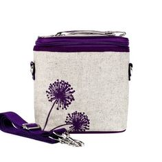 Purple Dandelion Large Cooler Bag- SoYoung - eco-friendly bags and  accessories for the modern family - designed in Canada 6a0b21da6f7b9