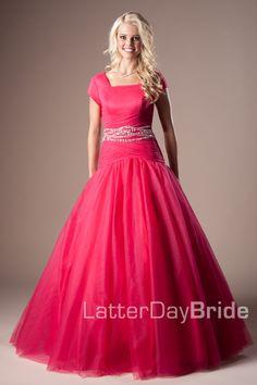 Modest Prom Dresses : Blake -Modest Mormon LDS Prom Dress  Modest ...