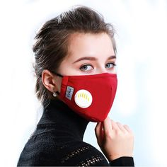 Fashion Unisex Respirator Mask With Breathing Valve Washable Cotton Activated Carbon Filter Mouth Masks Anti Dust Allergy Best Face Mask, Diy Face Mask, Nose Mask, Easy Face Masks, Different Nose Shapes, Dust Allergy, Respirator Mask, Activated Carbon Filter, Clean Face