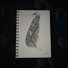 #feather #tattoo #doodle #art #feathers #Micron #pens #penart #black
