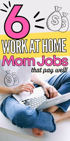 Are you a stay at home mom looking to make some money from home? Here are 6 legitmate work from home jobs that offer stability and extra income for moms. Teaching English Online, Easy Work, Show Me The Money, Work From Home Opportunities, Be Your Own Boss, Blog Writing, Work From Home Moms, Writing Services, Online Work