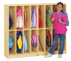 TWIN TRIM LOCKERS - 16 SECTIONS | Honor Roll Childcare Supply - Early Education Furniture, Equipment and School Supplies.