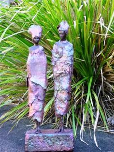 Afreican couple made with StoneArt and High quality's off PowertexPigments.   SOLD