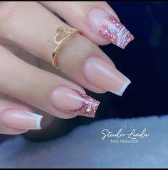 French Manicure Acrylic Nails, Best Acrylic Nails, Soft Pink Nails, Work Nails, Glow Nails, Acylic Nails, Girls Nails, Elegant Nails, Minimalist Nails