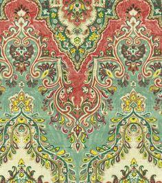 Home Decor Print Fabric- Waverly Palace Sari/Jewel