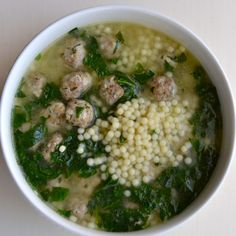 This is the best recipe for Italian wedding soup you'll ever find. I know this because my daughter is an Italian wedding soup expert, and she said so.