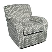 Glider/Recliner for Nursery Option - Silhouette Swivel Glider Recliner with White Piping - Domino Silver (Babies R Us, $549.99)