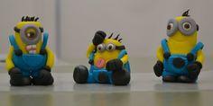 Minion Cupcake Toppers Minion Cupcake Toppers, Minion Cupcakes, Birthday Cupcakes, Fondant Minions, Custom Cupcakes, Cake Cookies, Cookie Decorating, Anniversary Cupcakes, Personalised Cupcakes