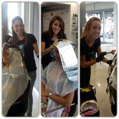 Daniela, Ilaria e Fabiana alle prese con il loro Degradè... #benesseredelladonna #cdj #clientefelice #degradejoelle #tagliopuntearia #starlight #ostia