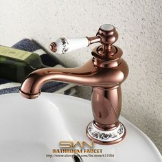 (42.70$)  Watch now - http://ai7d3.worlditems.win/all/product.php?id=1993345291 - Luxury Wind Red Artistic Lamp Style Bathroom Bath Vessel Sink Basin Faucet Mixer Taps Pattern Ceramic Handle